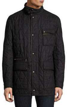 Salvatore Ferragamo Long Sleeve Quilted Jacket