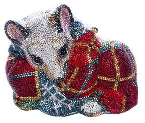 Judith Leiber Crystal Mouse Minaudiere