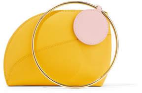 Roksanda Eartha Small Two-tone Textured-leather Clutch - Yellow