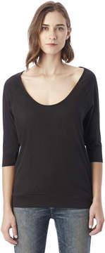 Alternative Apparel Boxy Cotton Modal Raglan T-Shirt