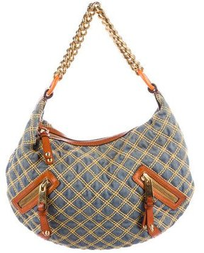 Marc Jacobs Quilted Banana Hobo - BLUE - STYLE