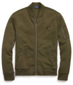 Ralph Lauren Double-Knit Bomber Jacket Company Olive S