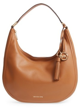 MICHAEL Michael Kors Large Lydia Leather Hobo - Brown - BLACK - STYLE