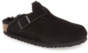 Birkenstock Women's 'Boston' Genuine Shearling Lined Clog