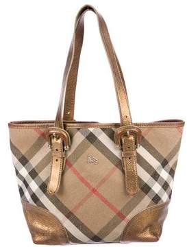 Burberry Shimmer Check Tote