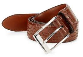 Robert Graham Cottonwood Croc-Embossed Leather Belt