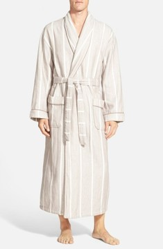 Majestic International Men's 'Breakers' Herringbone Cotton Robe
