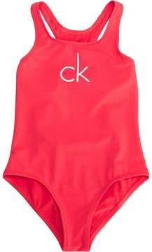 Calvin Klein Kids printed logo swimsuit