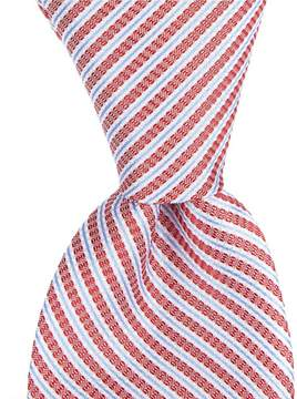 Roundtree & Yorke Trademark Soft Stripe Narrow 2.75#double; Silk Tie