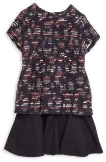 Oscar de la Renta Toddler's, Little Girl's& Girl's Tweed Drop-Waist Dress