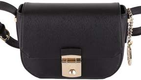 Trussardi Levanto Saffiano Faux Leather Shoulder Bag