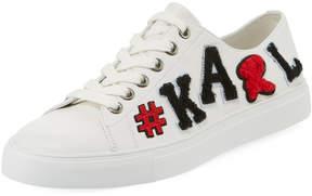 Karl Lagerfeld Paris Emille Leather #Karl Sneakers