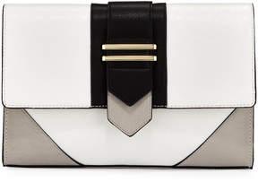 Neiman Marcus Mod Colorblock Clutch Bag