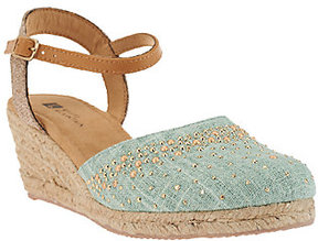 White Mountain As Is Closed -toe Espadrille Wedges Sail Boat