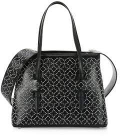 Alaia Medium Embellished Leather Tote