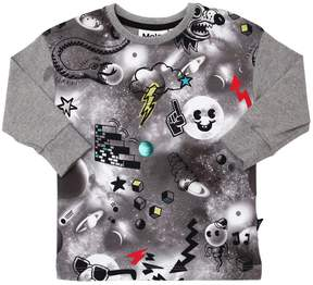 Molo Space & Doodles Cotton Jersey T-Shirt