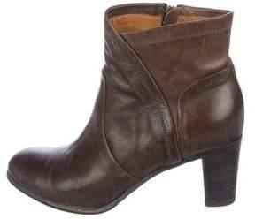 Alberta Ferretti Leather Ankle Boots