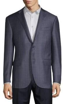 Corneliani Plaid Wool Blazer