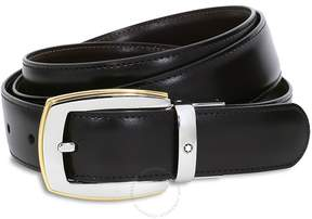 Montblanc Convex Reversible Leather Belt - Black/Brown