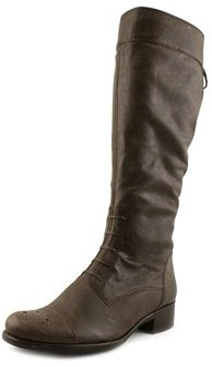 Gabor 31.501.38 Round Toe Leather Mid Calf Boot.