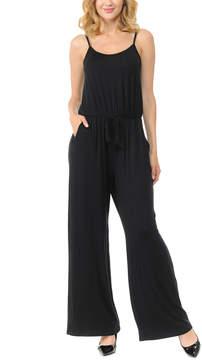 Celeste Black Sleeveless Wide-Leg Jumpsuit - Women & Plus