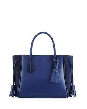 Longchamp Pénélope Small Leather & Suede Tote Bag, Blue - BLUE - STYLE
