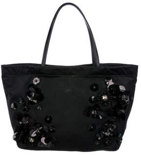 Tory Burch Floral Embellished Tote
