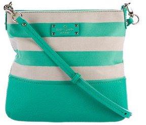 Kate Spade Grove Court Stripe Cora Crossbody Bag - GREEN - STYLE