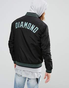 Diamond Supply Co. Bomber Jacket With Embroidered Logo