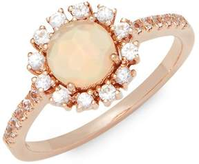 Suzanne Kalan Women's White Sapphire, Opal and 14K Rose Gold Ring