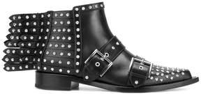 Alexander McQueen studded fringe ankle boots
