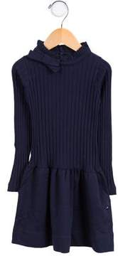 Lili Gaufrette Girls' Knit Mock Neck Dress