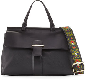 Cynthia Rowley Hudson Leather Satchel Bag