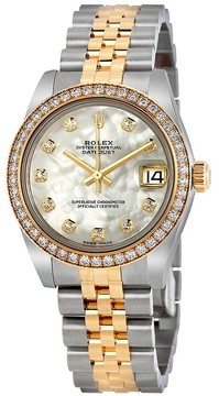 Rolex Datejust Lady 31 Mother of Pearl Dial Stainless Steel and 18K Yellow Gold Jubilee Bracelet Automatic Watch