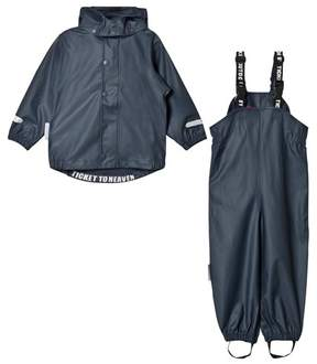 Ticket to Heaven Blue Total Eclipse Rain Set With Detachable Hood