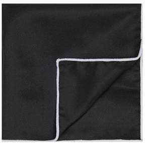 Topman Mens Black Pocket Square