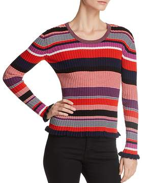 BOSS Fallegria Ribbed Stripe Top