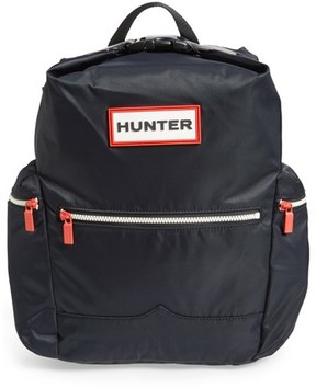 Hunter Top Clip Nylon Backpack - Black
