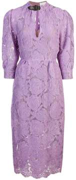 Fleur Du Mal belted neck lace dress