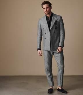 Reiss Tribe T Slim Fit Linen Trousers