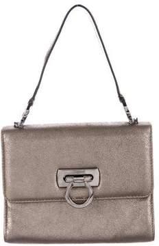 Salvatore Ferragamo Metallic Flap Handle Bag