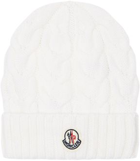Moncler Logo Badge Beanie Hat