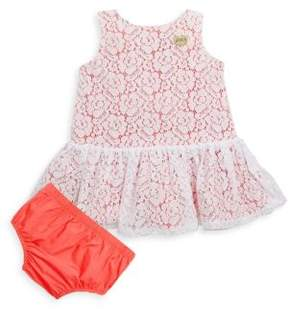 Juicy Couture Baby's Two-Piece Lace Dress and Bloomers Set