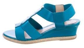 Fendi T-Strap Wedge Sandals