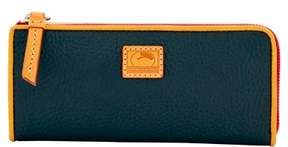 Dooney & Bourke Patterson Leather Zip Clutch Wallet - BLACK - STYLE