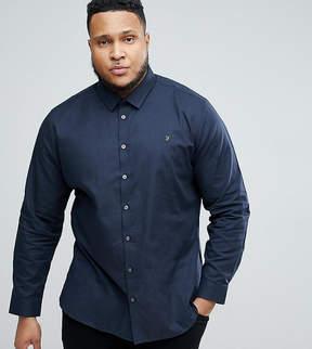 Farah PLUS Slim Shirt In Hopsack