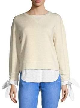 Derek Lam 10 Crosby Combo Shirttail Sweater