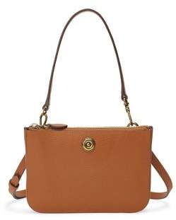 Lauren Ralph Lauren Convertible Pebbled Leather Belt Bag