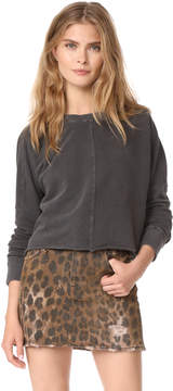 Mother The Droopy Crop Fray Sweatshirt