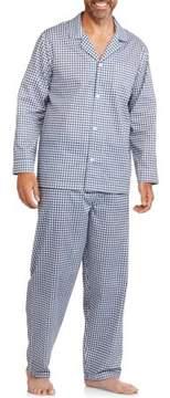 Fruit of the Loom Big Men's Long Sleeve Long Pant Print Pajama
